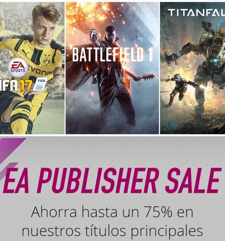 Origin: EA Publisher Sale (Hasta 75% de descuento en juegos de EA)