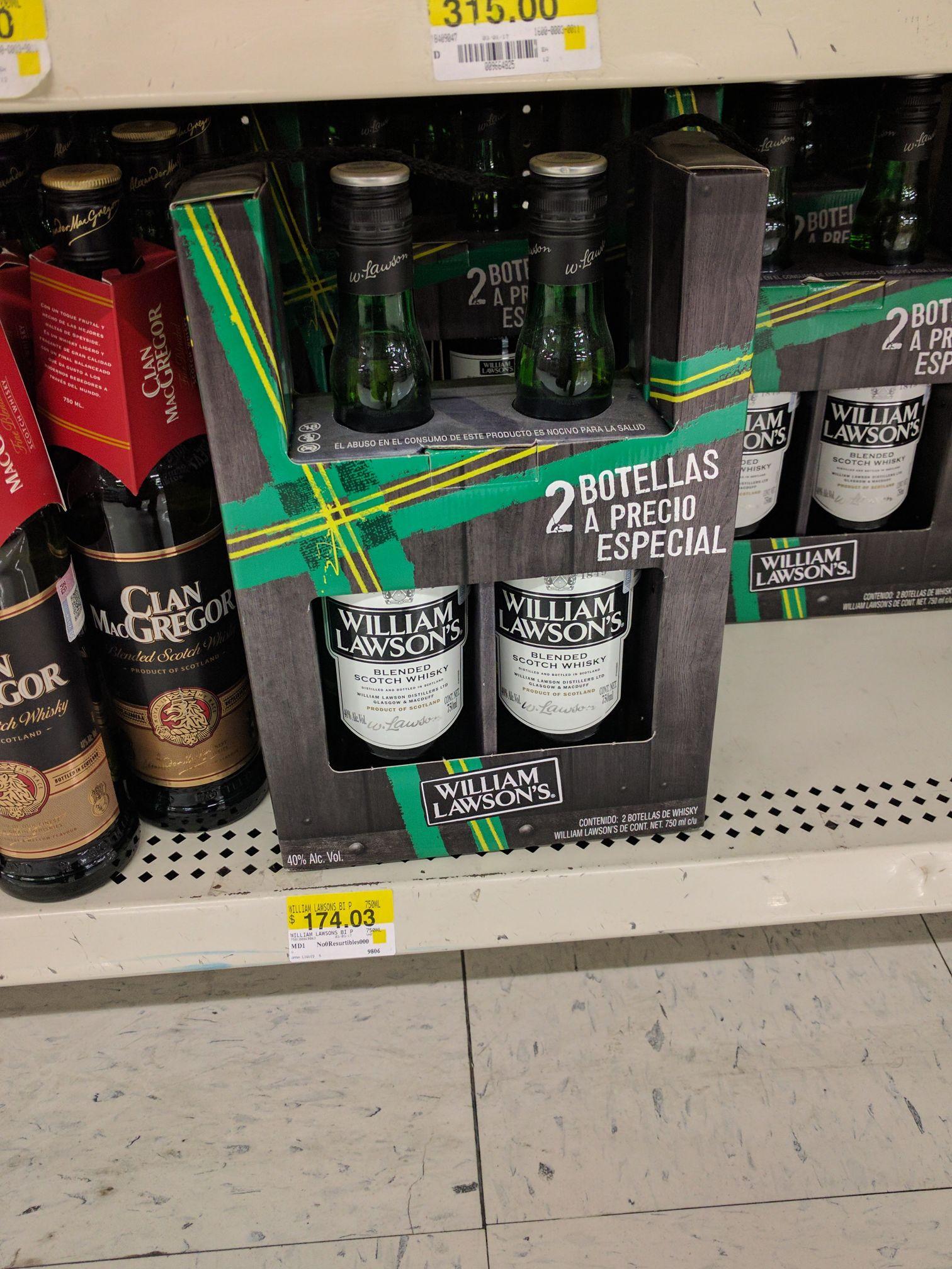 Walmart galerías Ags. 1.5 Lts whisky William Lawson