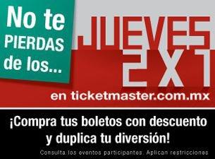 Jueves 2x1 Ticketmaster: Genitallica, Alejandro Fernandez, Marc Anthony y más