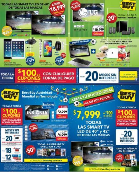 """Best Buy: todas las Smart TV de 60"""" $18,999 + $1,800 en cupones, las de 42"""" $7,999 + $700 y más"""