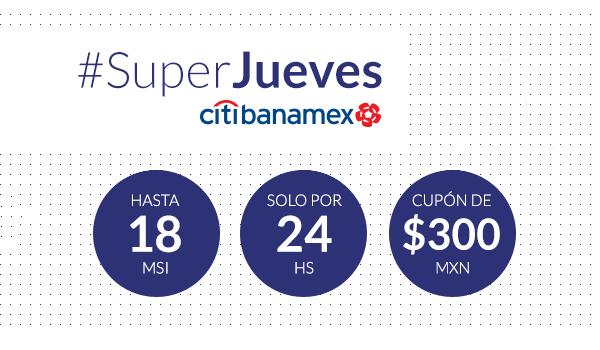 Mercado Libre y Banamex: Super Jueves, hasta 18 MSI y cupón de $300 en compras mayores a $1,000