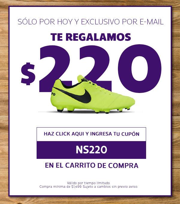 Netshoes Cupón de descuento de $220