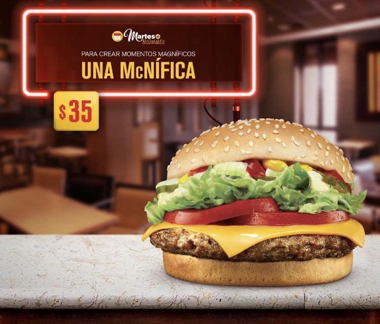 Martes de McDonald's: McNífica por $35