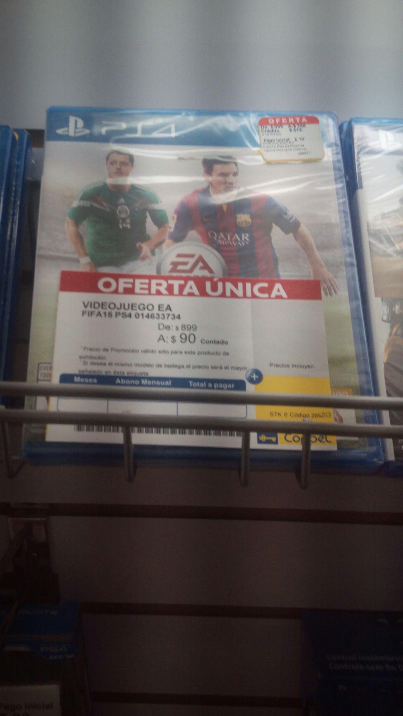 Coppel Coatzacoalcos. Fifa 15 PS4 por $90