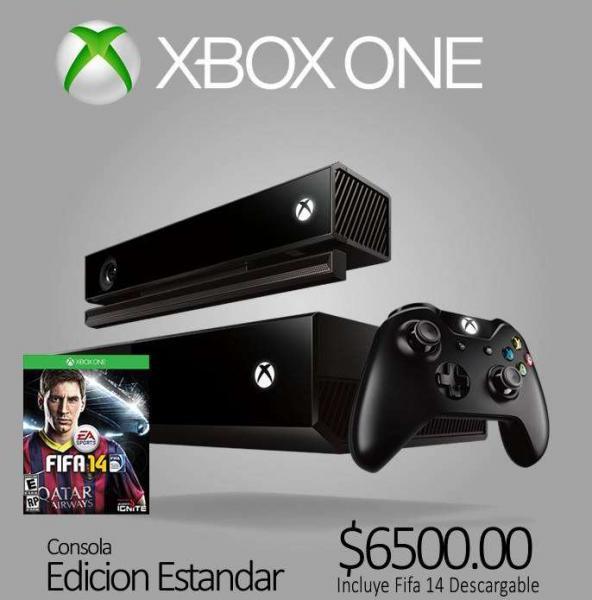 bnkshop: Xbox One con FIFA 14 $6,500