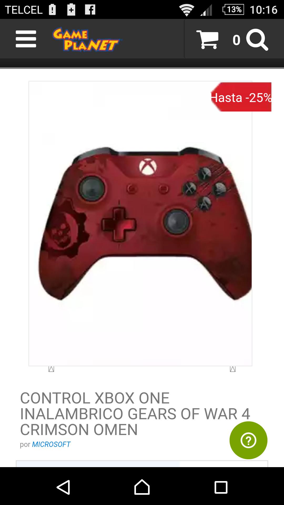 Gameplanet en línea y tienda física: Control GOW4 Crimson Omen