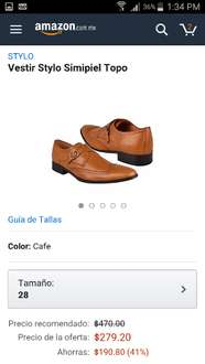 Amazon: zapatos para vestir stylo