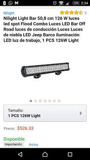 Amazon: Barra LED de 20 pulgadas