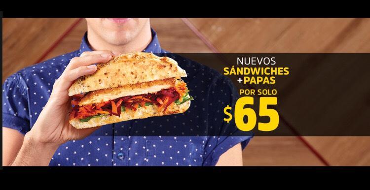 Vips: Nuevos Sandwiches más papas por $65