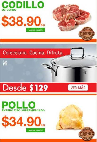 Ofertas de carnes en La Comer mayo 28