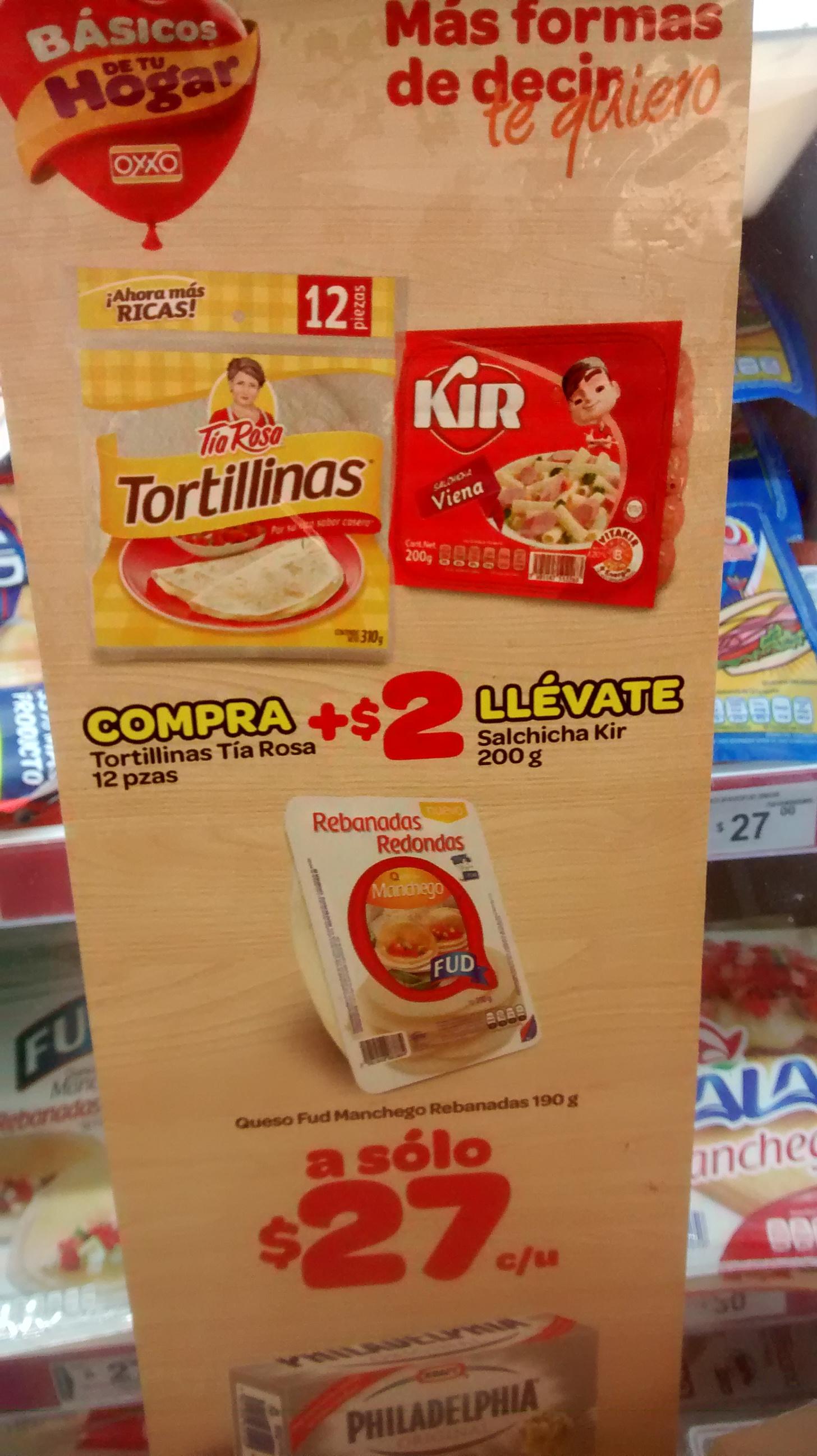 Oxxo: compra Tortillinas tía rosa + $2 salchichas kir 200g