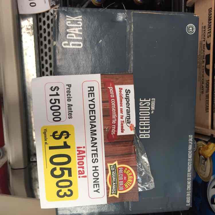 Superama: 6 pack de Beer House Rey de Diamantes Honey modelo a $105.03 y más