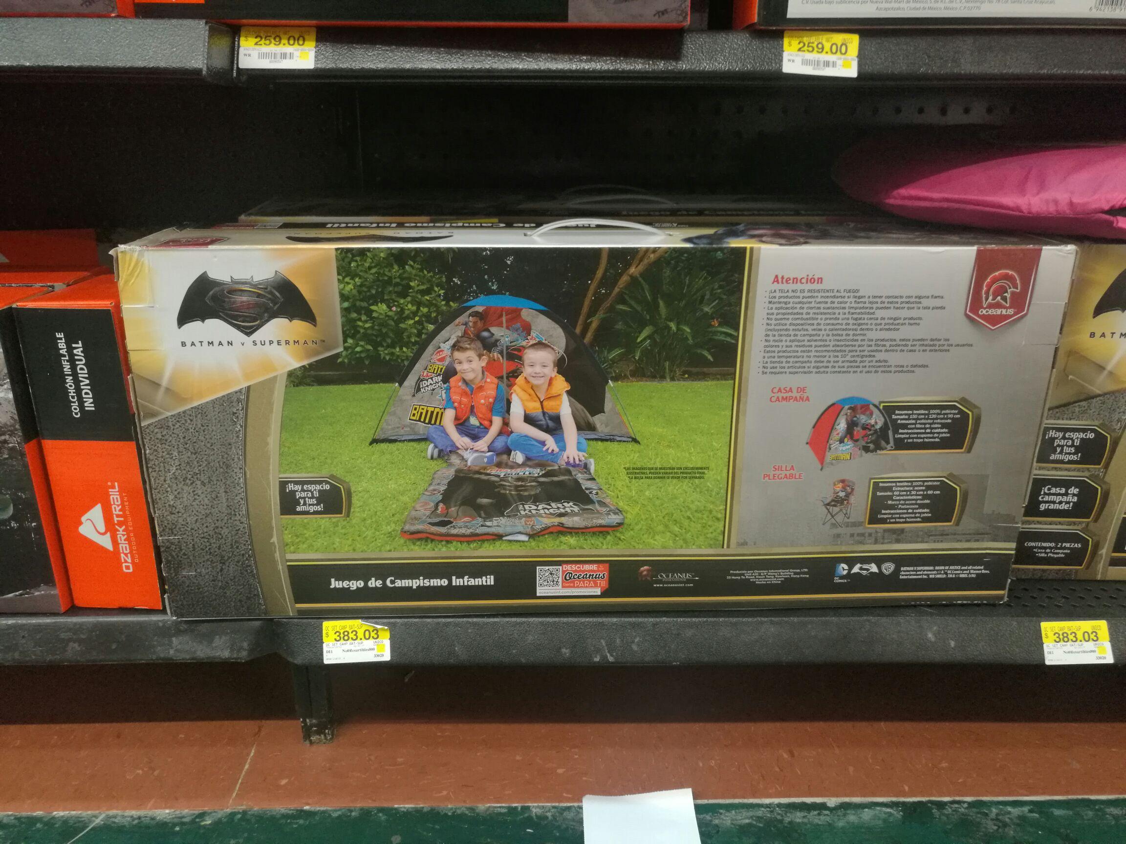 Walmart Montejo: juego de campismo infantil a $275.02