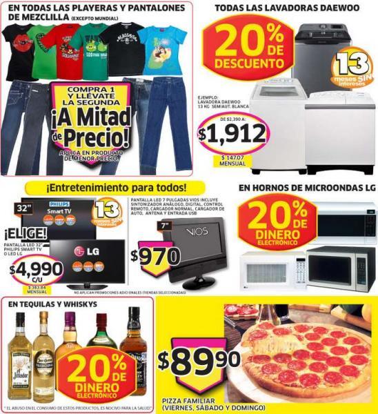 Soriana: bonificación en whisky, tequila, lavadoras, microondas y más ofertas