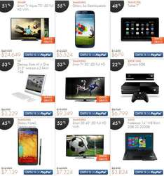 "Linio: Galaxy Note 3 $7,139, Galaxy S4 $5,525, LED Smart TV 60"" $16,149, de 70"" $24,649 y más"