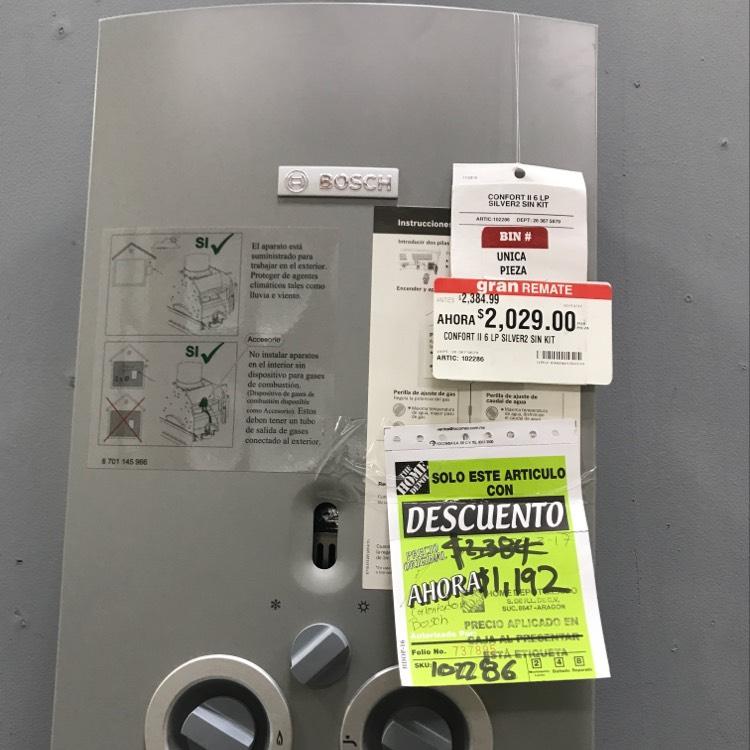 Home Depot: Calentador instantáneo Bosch
