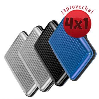 Linio: 4 carteras de aluminio $199 (4x1)