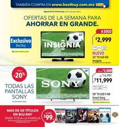 Folleto de ofertas en Best Buy del 22 al 28 de mayo de 2014