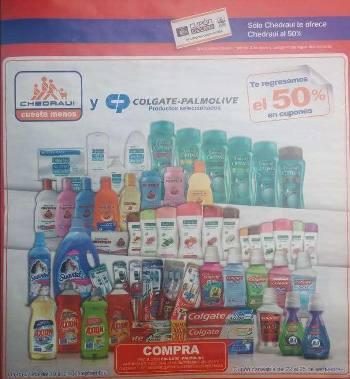 Chedraui: 50% de bonificación en productos de Colgate Palmolive (Axión, Suavitel, Colgate, etc)