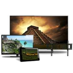 "Famsa: Pantalla LED Panasonic LED 50"" + pantalla LED 32"" + tablet + soporte $10,999"
