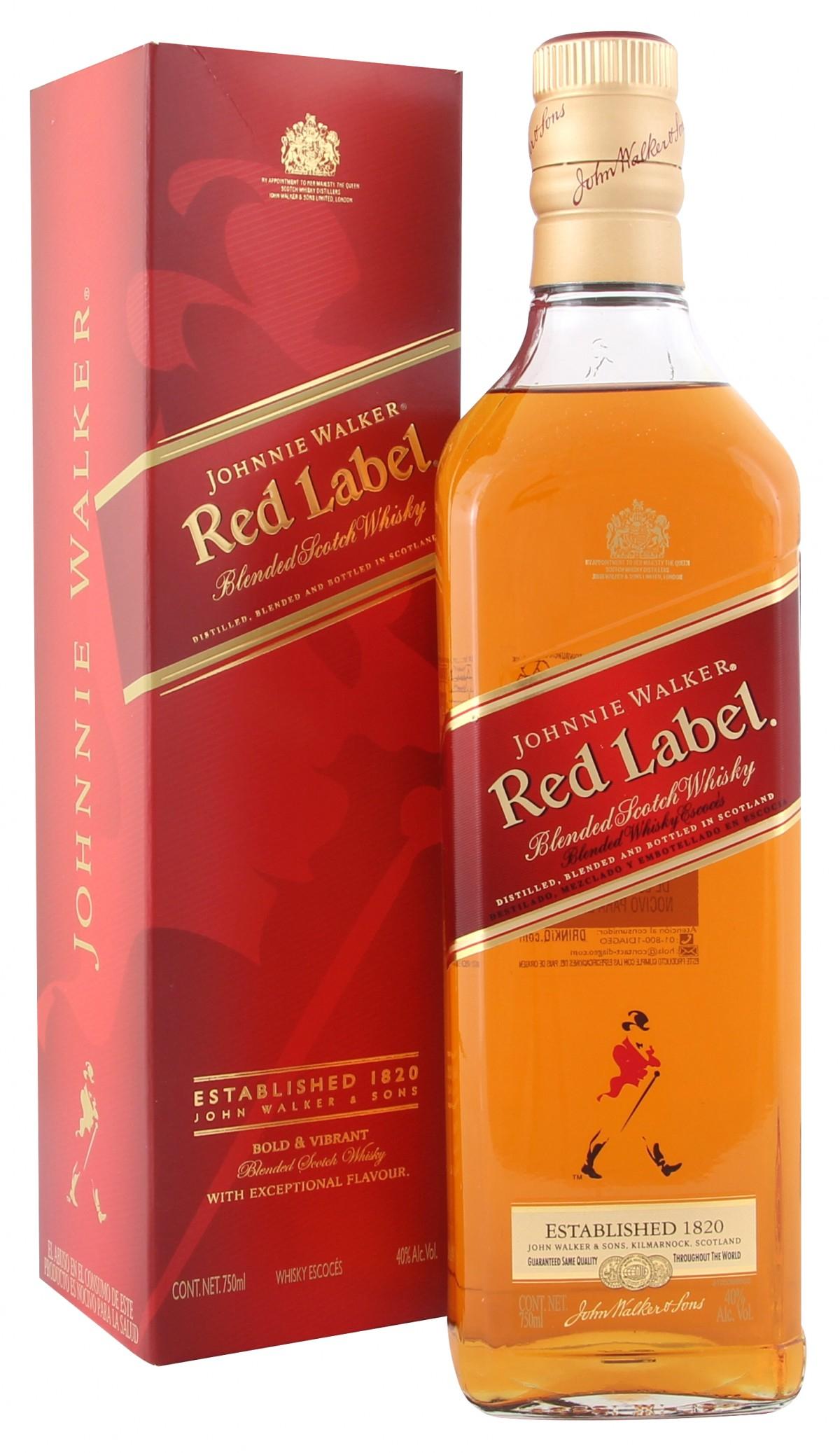 HEB: Whisky Johnnie Walker Etiqueta Roja 750 ml