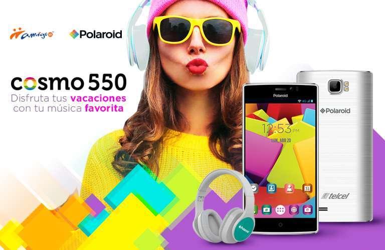 Telcel: Consiente a tu niñ@ interior con un Polaroid Cosmo 550 con audífonos de regalo.