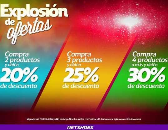 Netshoes: 40% de descuento comprando 4 artículos