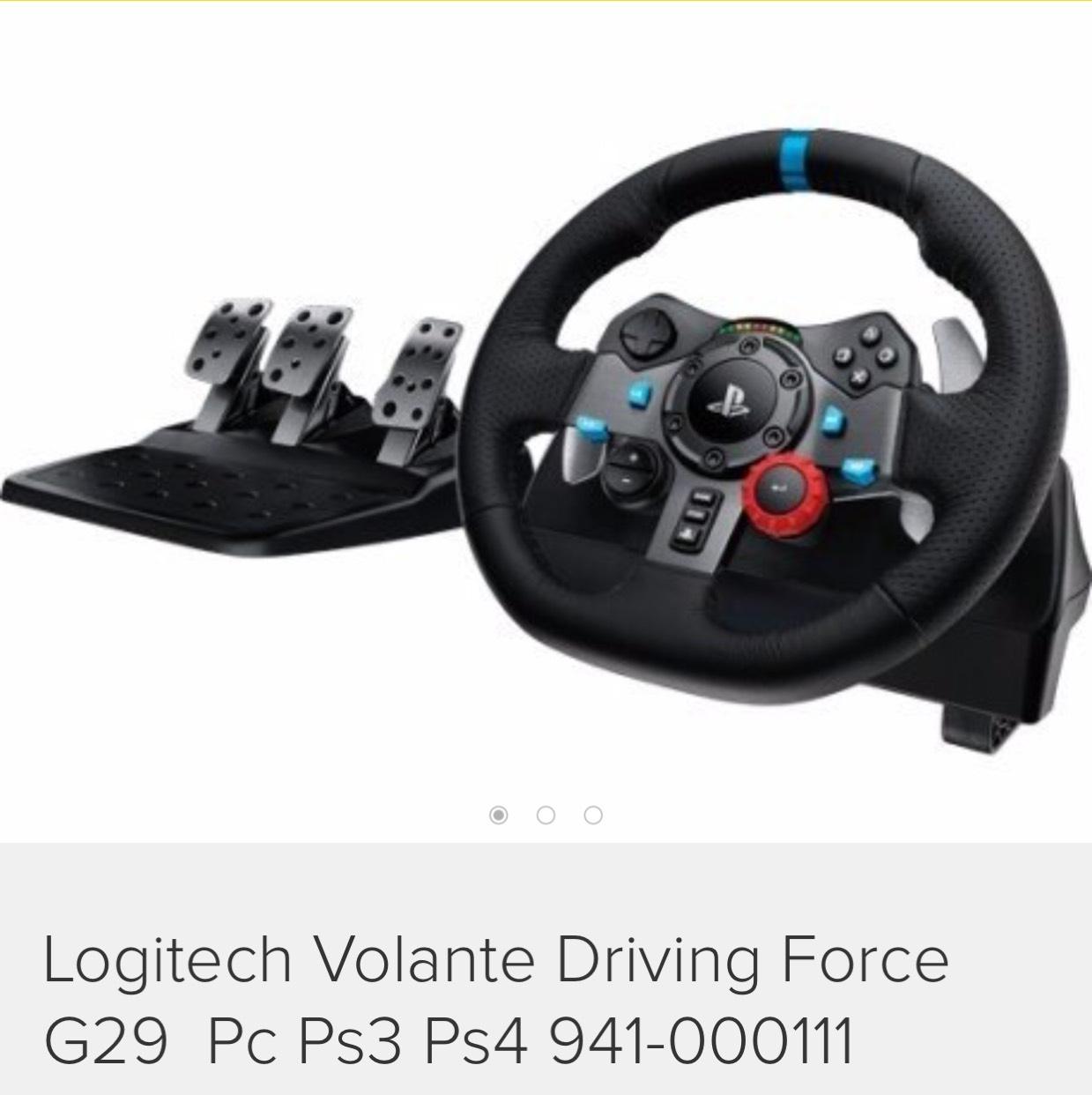 Promoción con 20% en Mercado Libre: Logitech G29 disponible en PS4 y Xbox One