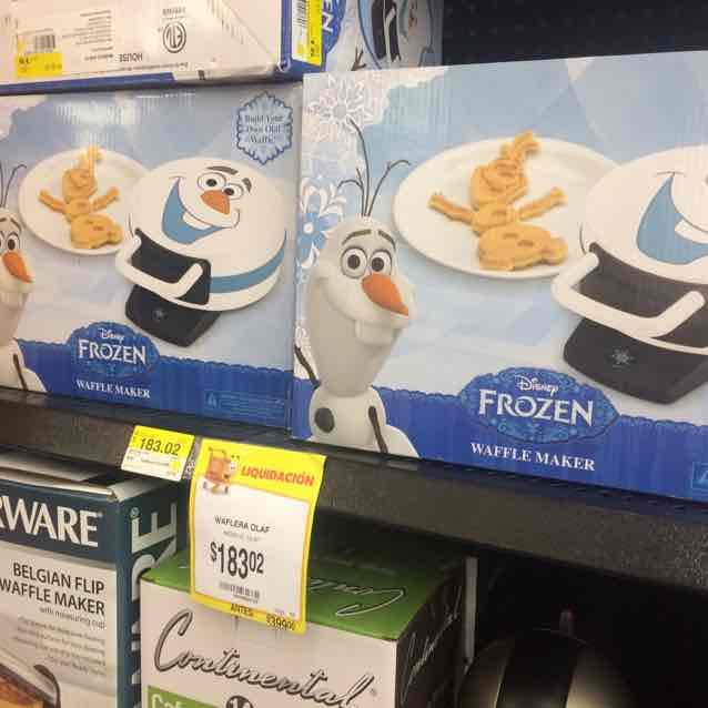 Walmart Universidad: Waflera Frozen a $183.02