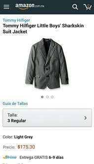 Amazon: Tommy Hilfiger Little Boys' Sharkskin Suit Jacket  PRIME !! Excelente  Precio