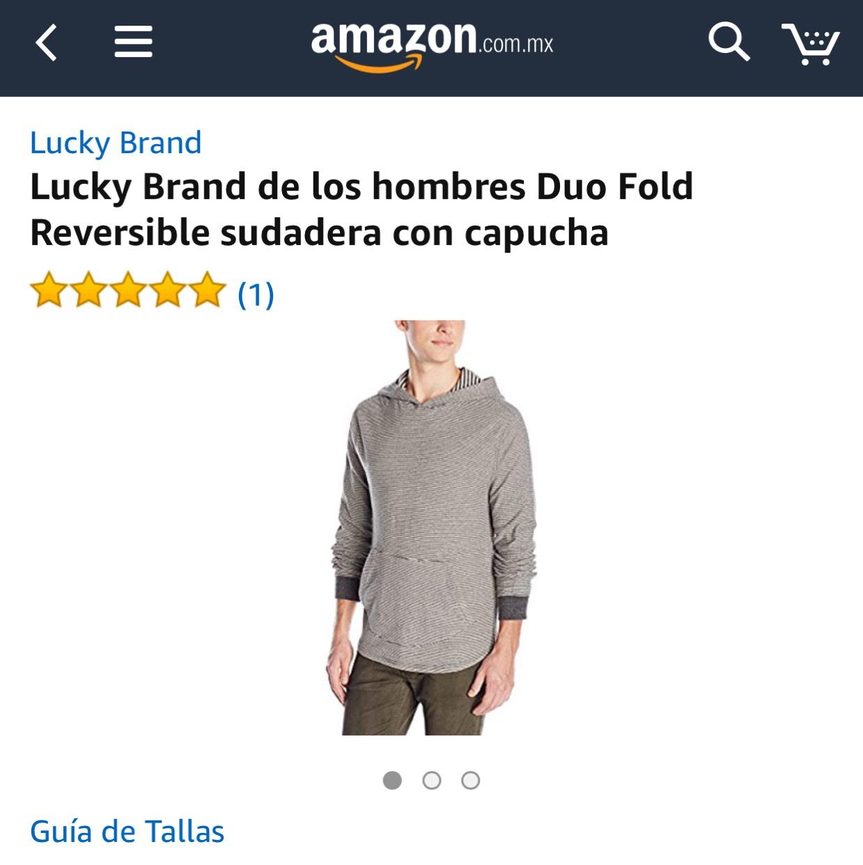 Amazon México: Sudadera reversible Lucky Brand