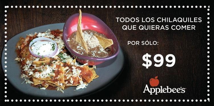Applebee's Mty: Todos los chilaquiles que quieras comer por $99