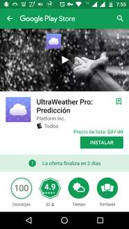 Google Play : Ultra Weather Pro Gratis