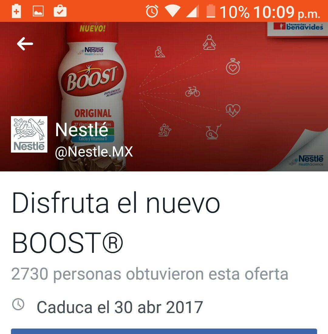 Farmacias Benavides: Boost GRATIS (se necesita Facebook)