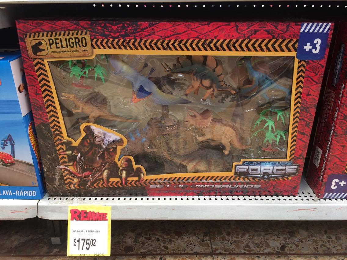 Bodega Aurrerá C. Izcalli: Set de dinosaurios Adventure Force a $175.02