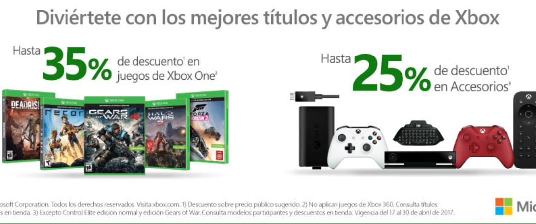 Liverpool: 35 % descuento y 25 % en accesorios de Xbox