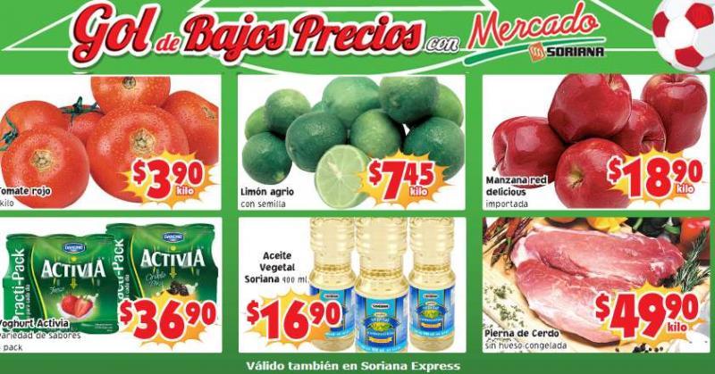 Ofertas de frutas y verduras en Soriana mayo 20 y 21