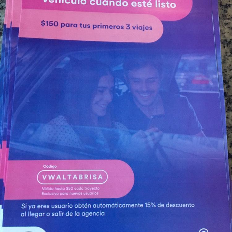 Cabify Mérida:  NUEVOS Usuarios código de $50 para tus primeros 3 viajes