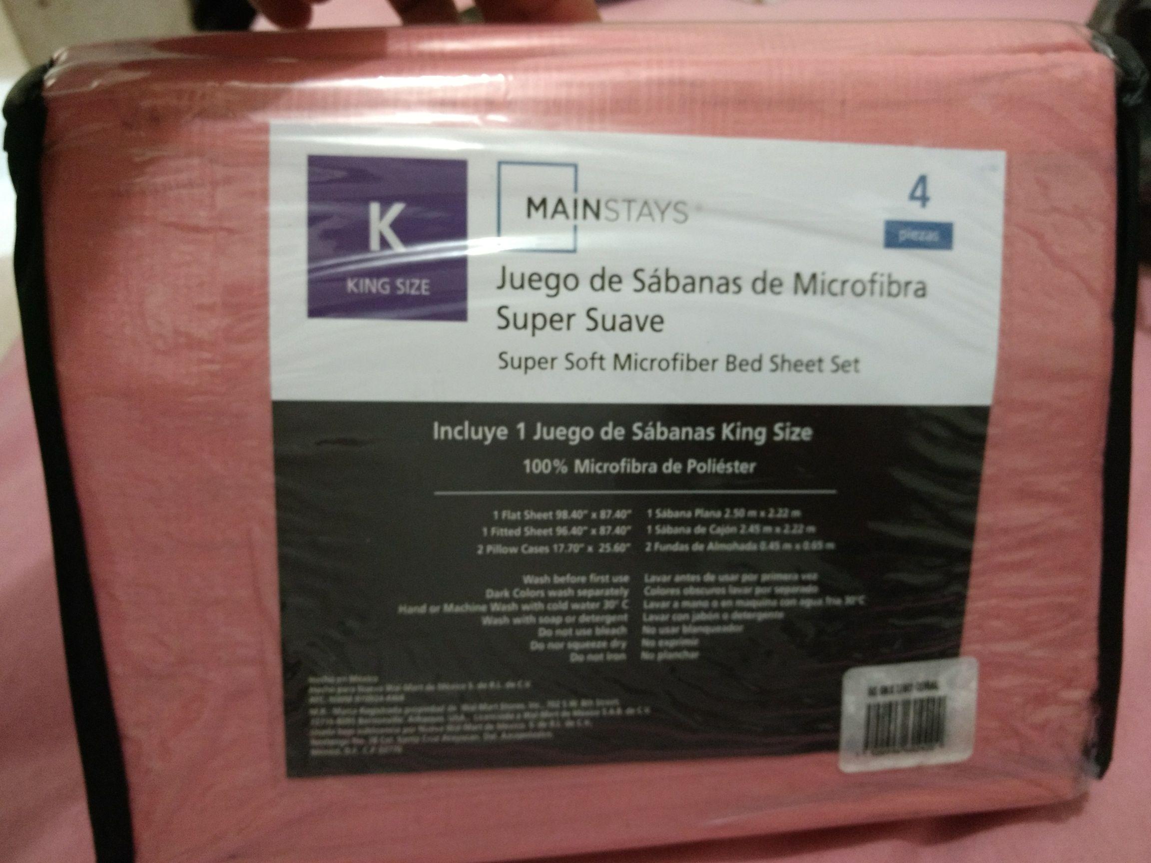 Walmart tres ríos: Sábanas king size $33.01