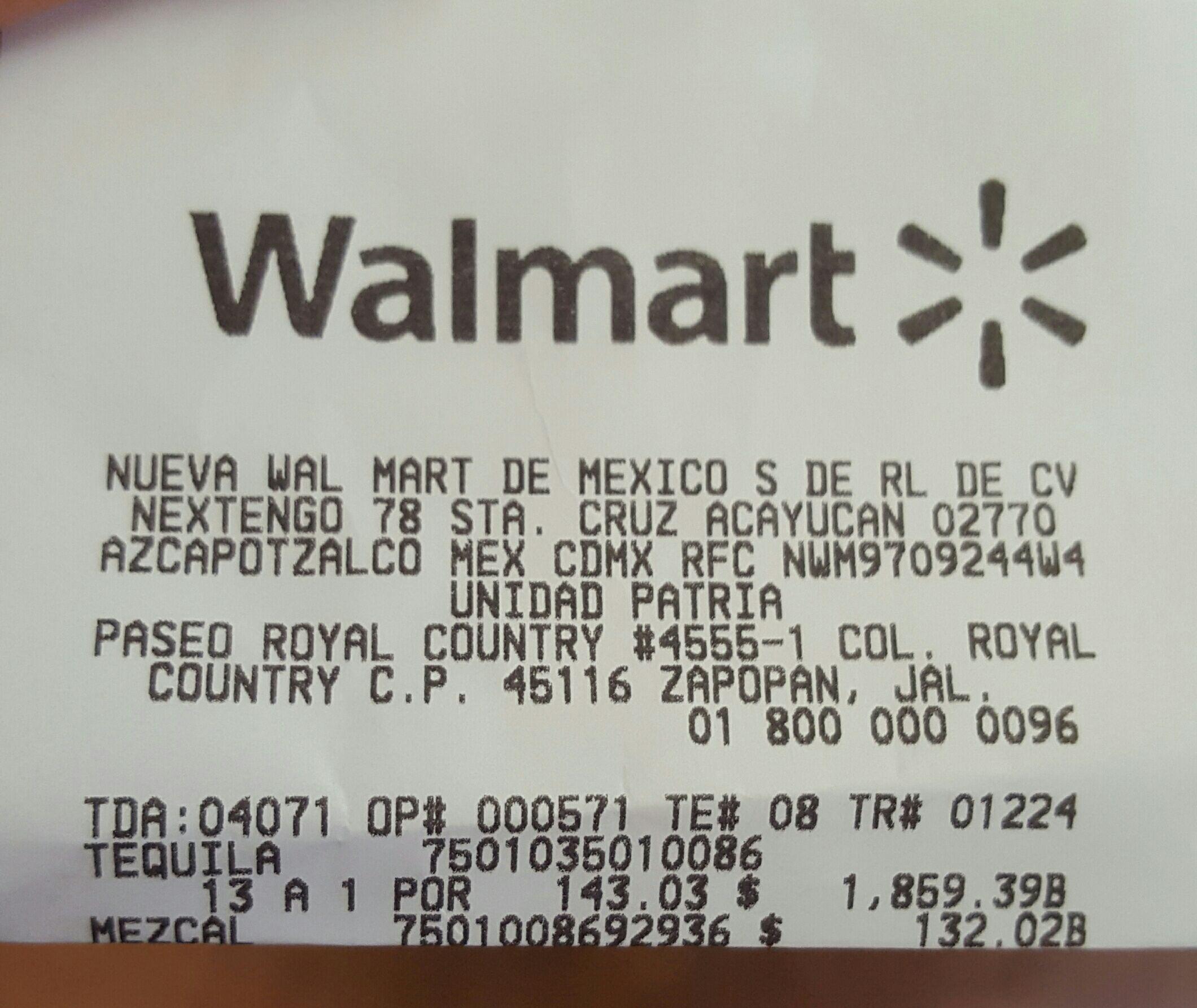 Walmart Andares, Tequila José Cuervo Especial 1.75l en liquidación a $143.03 y más