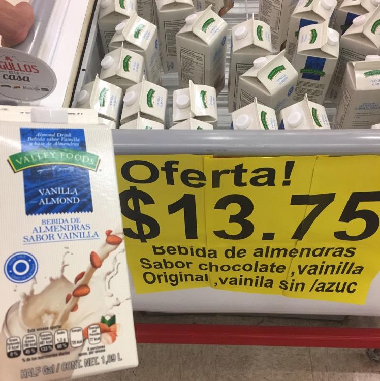 Soriana: Leche de almendras Valley Foods 1.8 litros