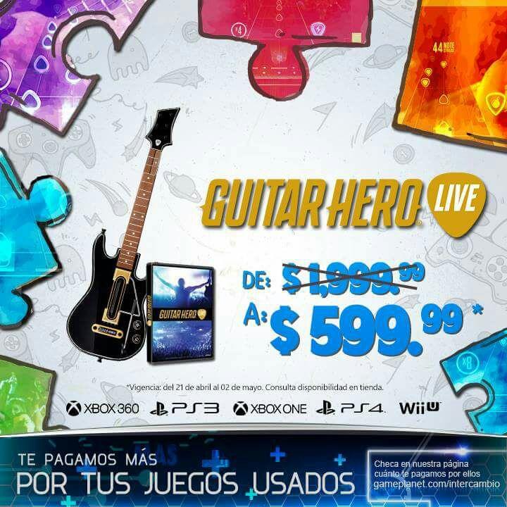 Game Planet: guitar hero live juego y guitarra para todas las consolas