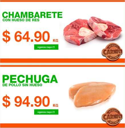 Martes de carnes en La Comer mayo 20