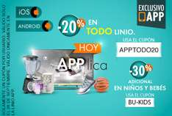 Linio: 20% de descuento sin mínimo comprando desde la app