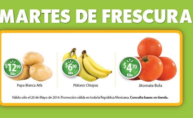 Martes de frescura en Walmart mayo 20: plátano $6.90 el kilo y más