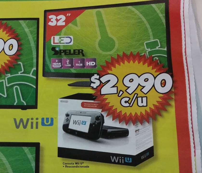 Bodega Aurrerá: Wii U reacondicionada $2,990