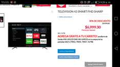 Office Depot: Pantalla sharp 43 smart + barra de sonido + pantalla de 32