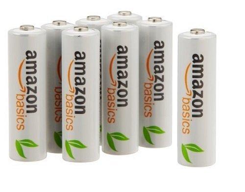 Amazon: 12 Pilas recargables AAA AmazonBasics