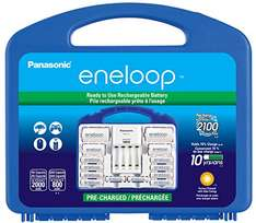 """Amazon: Panasonic K-KJ17MCC82A Eneloop Power Pack, NEW 2100 Cycle, 8AA, 2AAA, 2 """"C"""" Spacers, 2 """"D"""" Spacers, """"Advanced"""" Individual battery charger"""