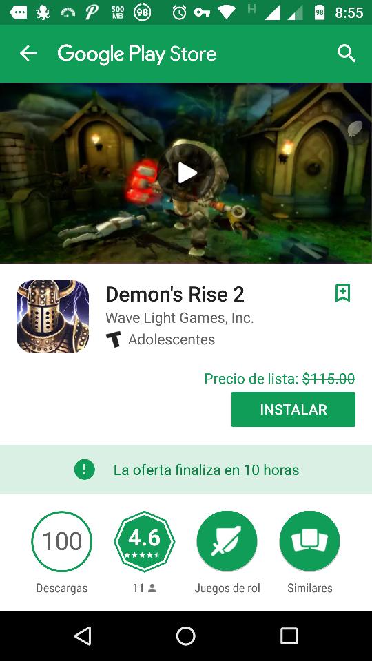 Google Play : Demon Rise 2 Gratis